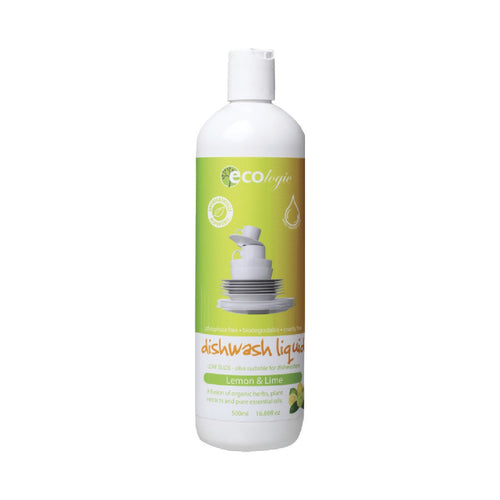 Ecologic Dishwash Liquid Lemon & Lime 500ml - GoodnessMe