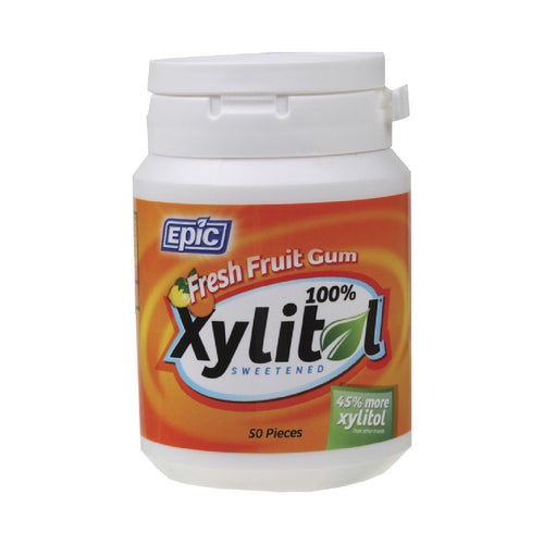 Epic Xylitol Chewing Gum Fresh Fruit 50 - GoodnessMe