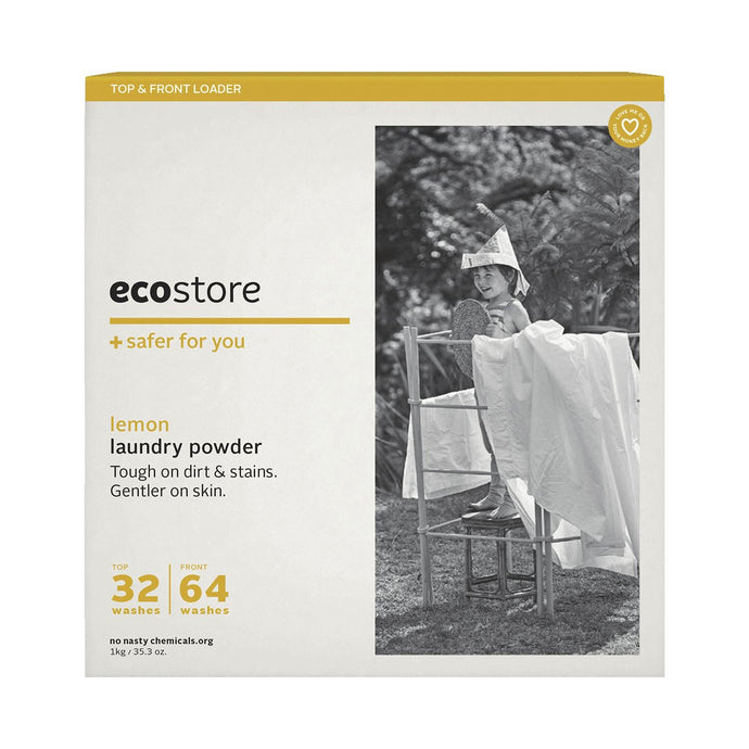 Ecostore Laundry Powder Lemon 1kg - GoodnessMe