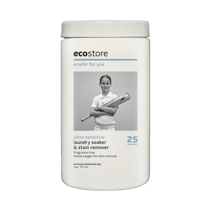 Ecostore Laundry Soaker & Stain Remover Ultra Sensitive (Fragrance Free) 1kg - GoodnessMe
