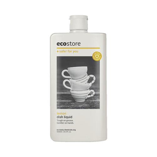 Ecostore Dish Liquid Lemon 500ml - GoodnessMe