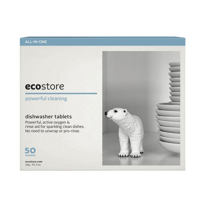 Ecostore Dishwasher Tablets (50 Washes) Fragrance Free (Bulk) 1kg - GoodnessMe