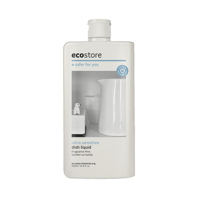 Ecostore Dish Liquid Ultra Sensitive (Fragrance Free) 500ml - GoodnessMe