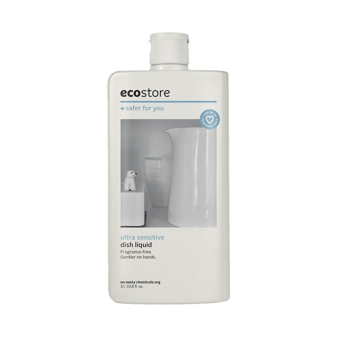 Ecostore Dish Liquid Ultra Sensitive (Fragrance Free) 1L - GoodnessMe