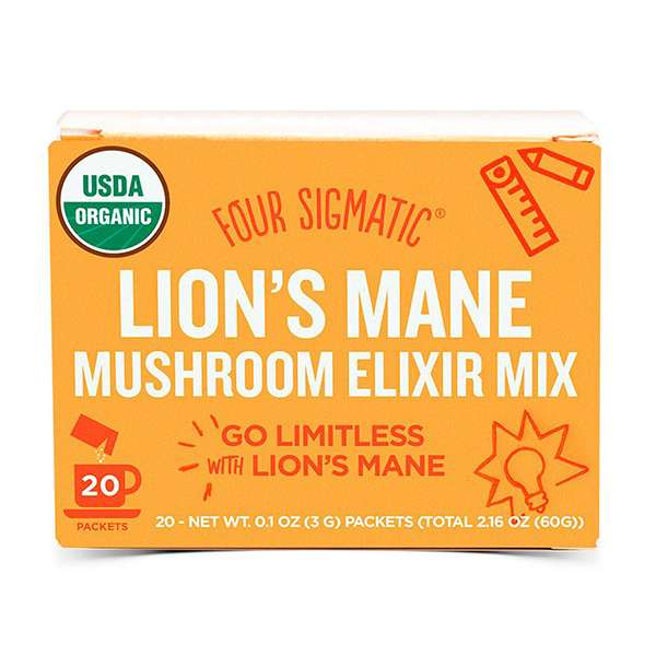 Four Sigmatic Mushroom Elixir Mix Packets with Lion's Mane ( 20 x 3g )
