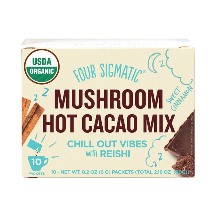 Mushroom Hot Cacao mix Packets with Reishi (10 x 6g)