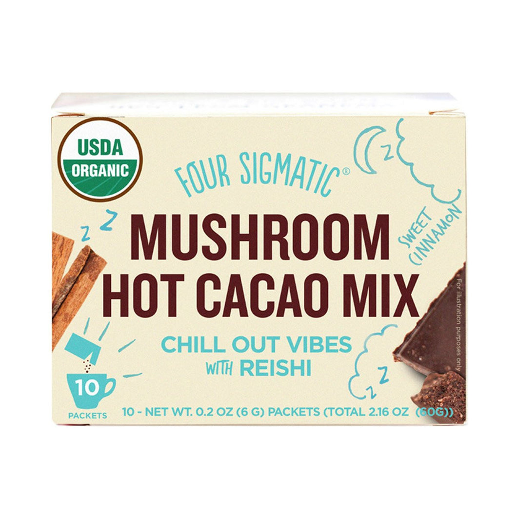 Four Sigmatic Mushroom Hot Cacao mix Packets with Reishi (10 x 6g)