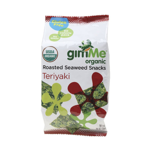 Gimme Roasted Seaweed Snacks Teriyaki 10g - GoodnessMe