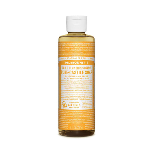 Dr Bronners Pure Castile Liquid Soap -  Citrus 237ml - GoodnessMe