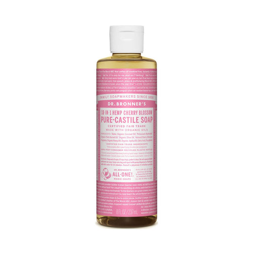 Dr Bronners Pure Castile Liquid Soap -  Cherry Blossom 237ml - GoodnessMe