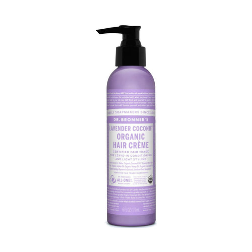 Dr Bronners Organic Hair Cream -  Lavender and Coconut 177ml - GoodnessMe