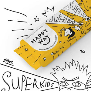 Happy Way Kid's Snack Bar Banana 18x 30g