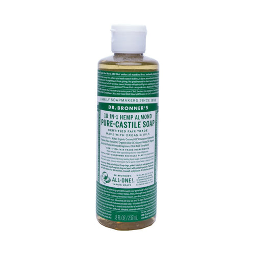 Dr Bronners Pure Castile Liquid Soap -  Almond 237ml - GoodnessMe