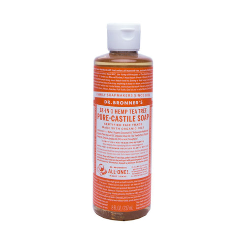 Dr Bronners Pure Castile Liquid Soap -  Tea Tree 237ml - GoodnessMe