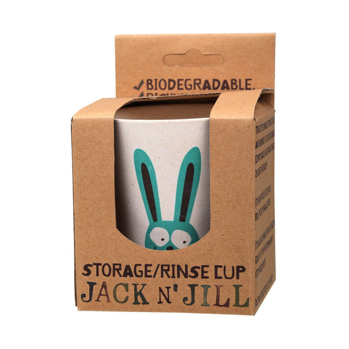 Jack N Jill Storage/Rinse Cup Bunny (Biodegradable Cup) - GoodnessMe