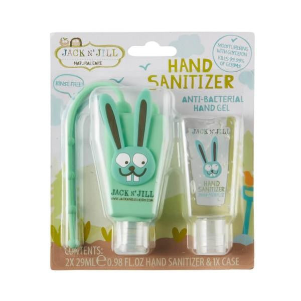 Jack N Jill Hand Sanitizer & Holder -  Bunny (2 x 29ml) - GoodnessMe
