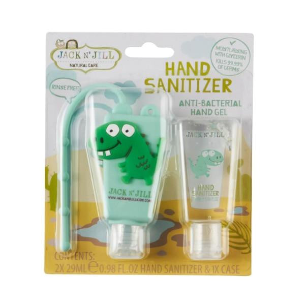 Jack N Jill Hand Sanitizer & Holder - Dino (2 x 29ml) - GoodnessMe