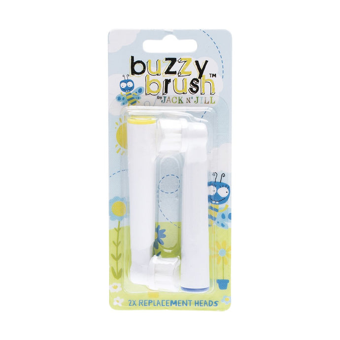 Jack N Jill Replacement Heads Buzzy Brush (Twin Pack) - GoodnessMe