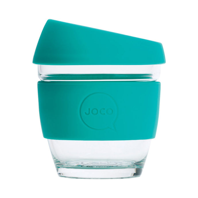 Joco Reusable Glass Cup Small 8 oz - Mint 236ml - GoodnessMe