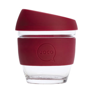 Joco Reusable Glass Cup Small 8 oz - Ruby Wine 236ml