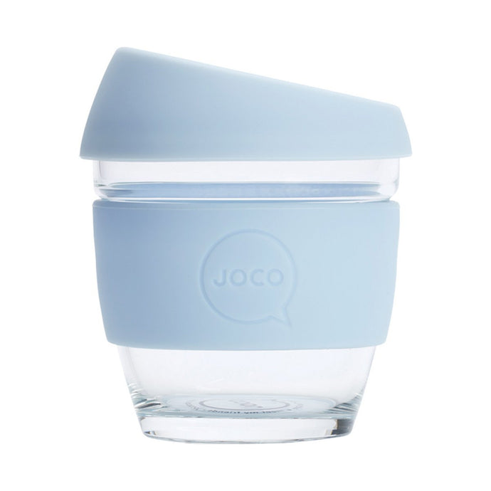 Joco Reusable Glass Cup Small 8 oz - Vintage Blue 236ml - GoodnessMe