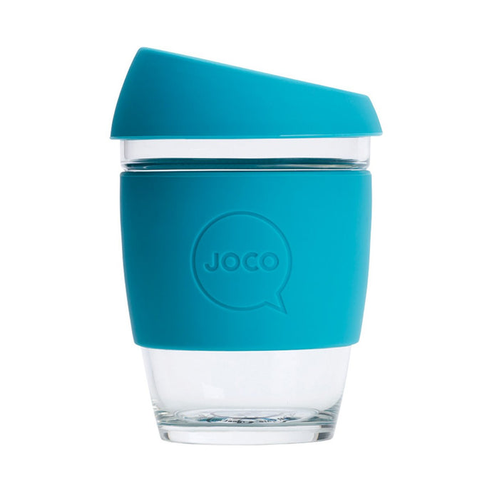 Joco Reusable Glass Cup Regular 12oz - Blue 354ml