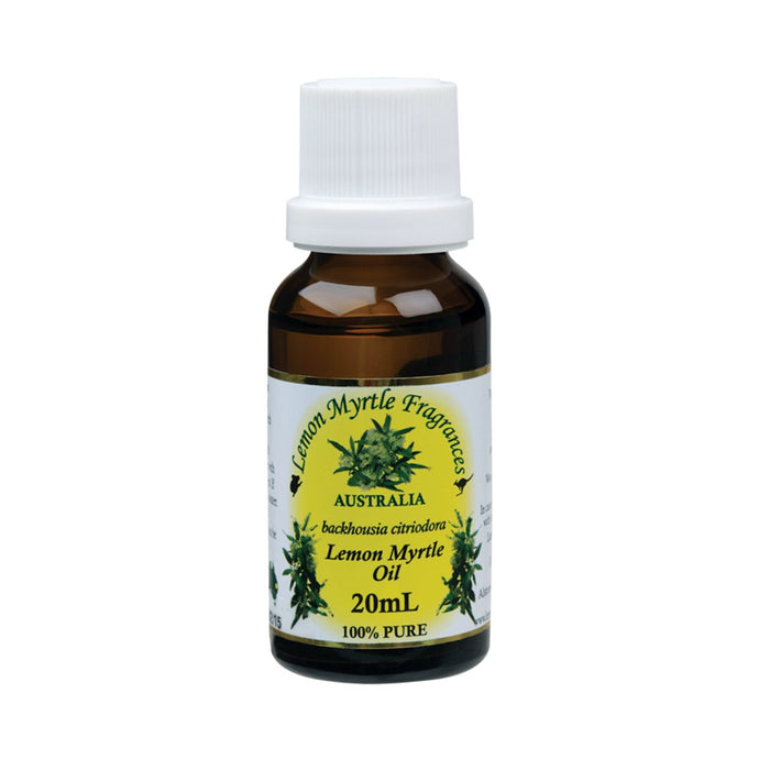 Lemon Myrtle Fragrances Essential Oil (100%) Lemon Myrtle 20ml - GoodnessMe