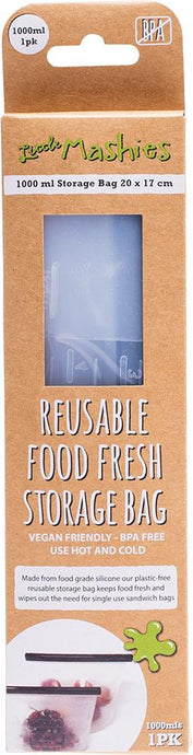 Little Mashies Reusable Food Silicone Storage Bag - Large - 1000ml