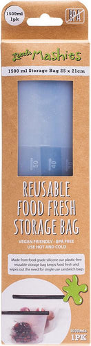 Raw C Reusable Food Silicone Storage Bag - X Large - 1500ml - GoodnessMe