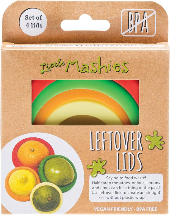 Little Mashies Reusable Leftover Lids - Pack of 4