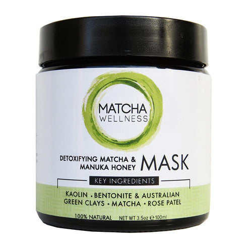 Detoxifying Matcha & Manuka Honey Mask 100g - GoodnessMe