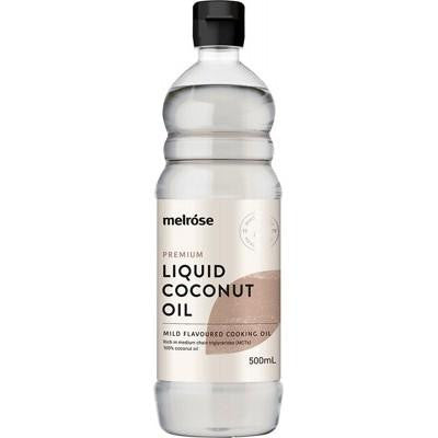 Melrose Liquid Coconut Oil 500ml - GoodnessMe