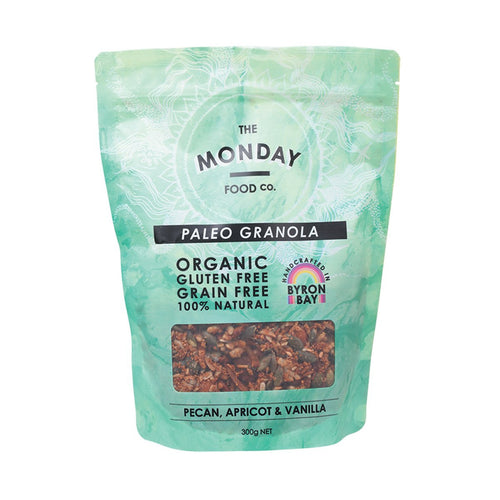The Monday Food Co Paleo Granola Pecan Apricot & Vanilla 300g - GoodnessMe