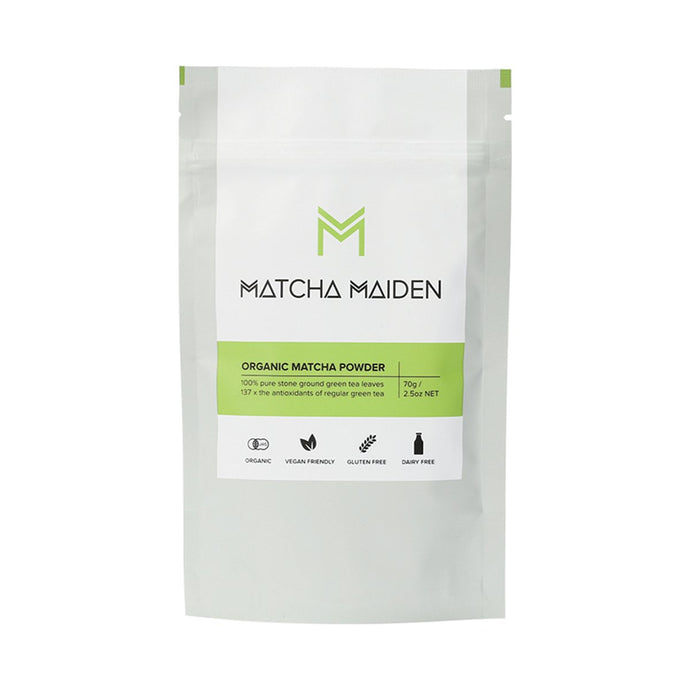 Matcha Maiden Matcha Green Tea Powder 100% Pure Stone Ground 70g - GoodnessMe