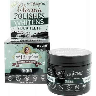 My Magic Mud Whitening Tooth Powder With Activated Charcoal 30g - GoodnessMe