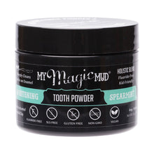 My Magic Mud Whitening Tooth Powder With Charcoal - Spearmint 30g
