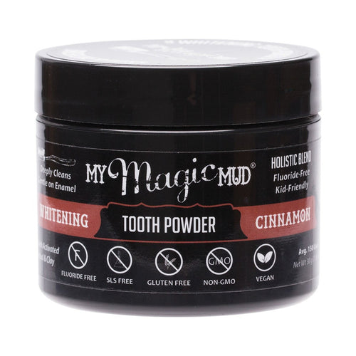 My Magic Mud Whitening Tooth Powder With Charcoal - Cinnamon 30g - GoodnessMe