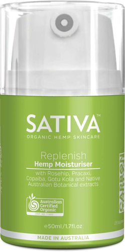 Sativa Hemp Moisturiser Replenish 50ml - GoodnessMe
