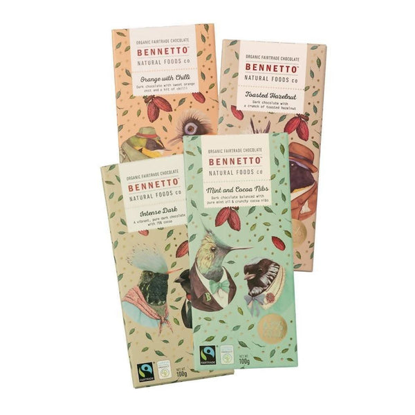 Bennetto Natural Foods co Mixed Bundle 14 x 100g Bars