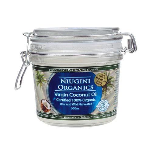 Niugini Organics Virgin Coconut Oil 100% Pure 320ml - GoodnessMe