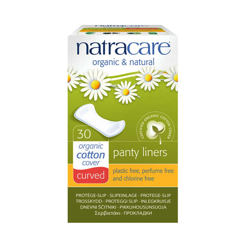 Natracare Panty Liners Curved 30 pack - GoodnessMe
