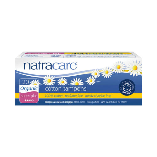 Natracare Tampons (Non-Applicator) Super Plus 20 pack - GoodnessMe