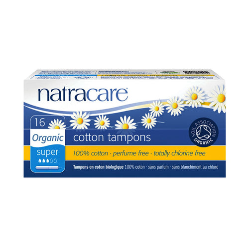 Natracare Tampons (Applicator) Super 16 pack - GoodnessMe