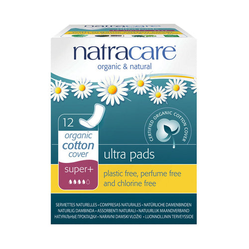 Natracare Ultra Pads Super Plus 12 pack - GoodnessMe