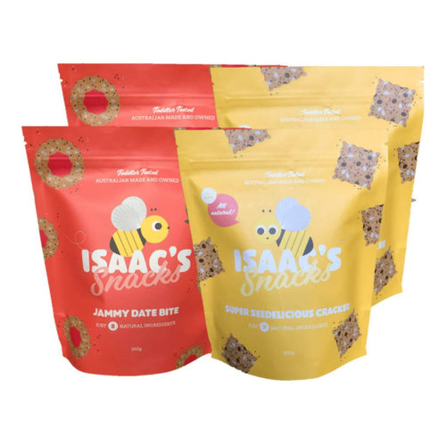 Isaac's Snacks Seedelicious Crackers & Jammy Date Bites - 2 of each - GoodnessMe
