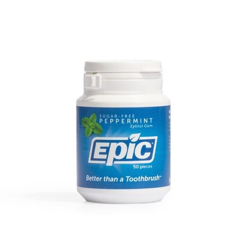 Epic Xylitol Chewing Gum Peppermint 50 - GoodnessMe