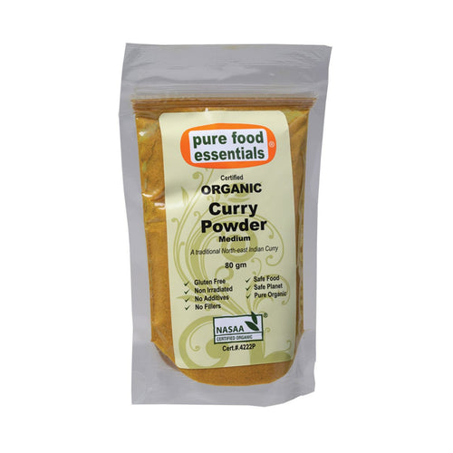 Pure Food Essetials Spices Curry Powder (Medium) 80g - GoodnessMe