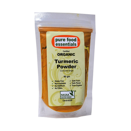Pure Food Essetials Spices Turmeric Powder 80g - GoodnessMe