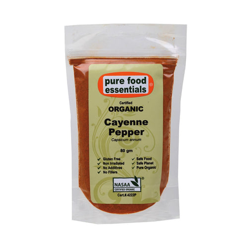 Pure Food Essetials Spices Cayenne Pepper 80g - GoodnessMe