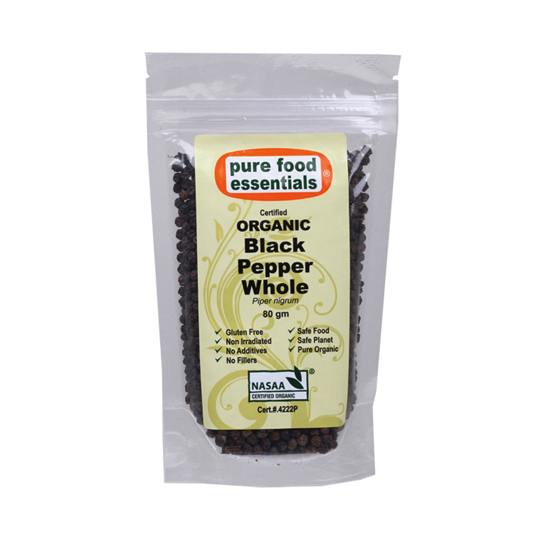 Pure Food Essentials Spices Black Pepper Whole 80g